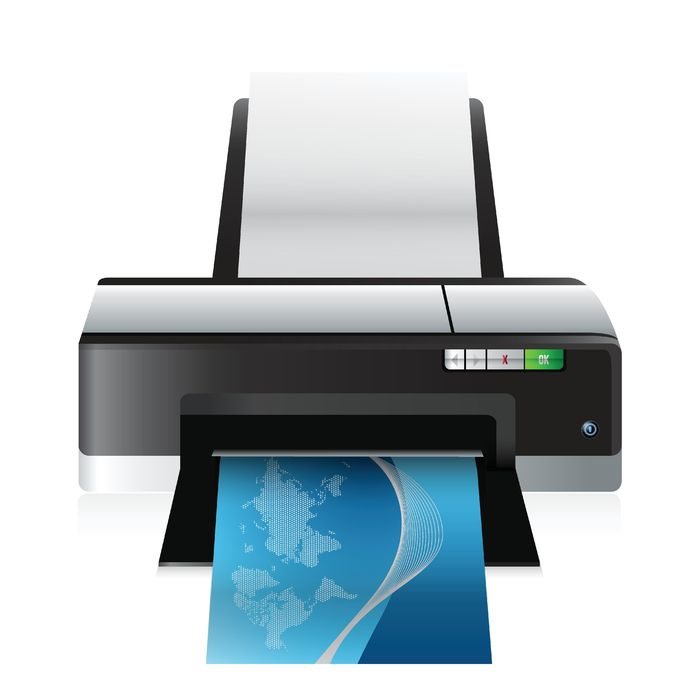 18689962 - high quality printer illustration design over a white background